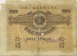 10 Patacas TIMOR  1910 P.03 B+
