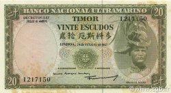 20 Escudos TIMOR  1967 P.26a SUP