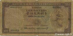 100 Escudos TIMOR  1963 P.28a B