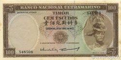 100 Escudos TIMOR  1963 P.28a SUP