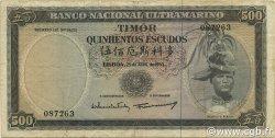 500 Escudos TIMOR  1963 P.29a TTB