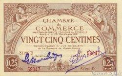 25 Centimes OCÉANIE  1919 P.01b SPL