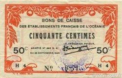 50 Centimes OCÉANIE  1943 P.10a pr.SUP