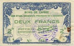 2 Francs OCÉANIE  1943 P.12a TTB+