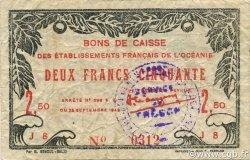 2,5 Francs OCÉANIE  1943 P.13a TTB