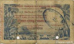 25 Francs NOUVELLES HÉBRIDES  1921 P.A1 B