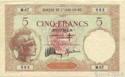 5 Francs NOUVELLES HÉBRIDES  1941 P.04a pr.SUP