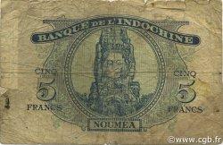 5 Francs NOUVELLES HÉBRIDES  1945 P.05 B