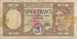 20 Francs NOUVELLES HÉBRIDES  1941 P.06 TB