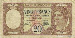 20 Francs NOUVELLES HÉBRIDES  1941 P.06 pr.TTB