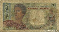 20 Francs NOUVELLES HÉBRIDES  1951 P.08a B+