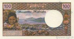 100 Francs NOUVELLES HÉBRIDES  1972 P.18bs NEUF