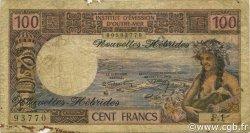 100 Francs NOUVELLES HÉBRIDES  1972 P.18b pr.B