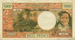 1000 Francs NOUVELLES HÉBRIDES  1975 P.20b TTB