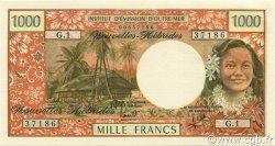 1000 Francs NOUVELLES HÉBRIDES  1975 P.20b NEUF