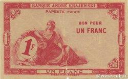 1 Franc TAHITI  1920 P.09 TB+