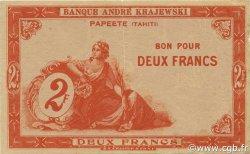 2 Francs TAHITI  1920 P.10 TTB+
