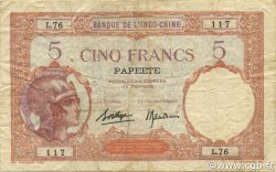 5 Francs TAHITI  1936 P.11c TTB