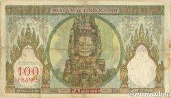100 Francs TAHITI  1956 P.14c TB+