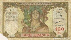 100 Francs TAHITI  1961 P.14d B+