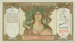 100 Francs TAHITI  1961 P.14d TTB