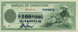 100 Francs TAHITI  1943 P.17b SUP+