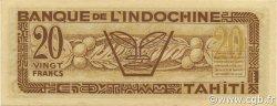 20 Francs TAHITI  1944 P.20 SPL