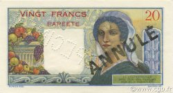 20 Francs TAHITI  1954 P.21bs SPL
