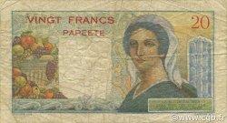 20 Francs TAHITI  1954 P.21b TB+