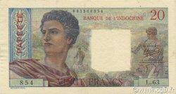 20 Francs TAHITI  1954 P.21b SUP