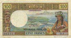 100 Francs TAHITI  1971 P.24a TTB