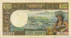 100 Francs TAHITI  1973 P.24b pr.SUP