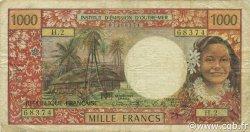 1000 Francs TAHITI  1971 P.27a TB à TTB