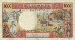 1000 Francs TAHITI  1983 P.27c TTB