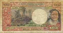1000 Francs TAHITI  1988 P.27d TB