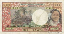 1000 Francs TAHITI  1988 P.27d TTB