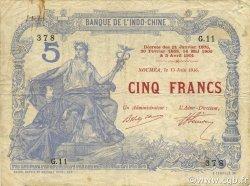 5 Francs NOUVELLE CALÉDONIE  1916 P.15a TTB
