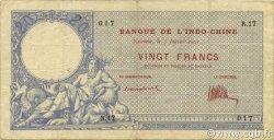 20 Francs NOUVELLE CALÉDONIE  1921 P.20 TTB