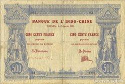 500 Francs NOUVELLE CALÉDONIE  1921 P.22 TB