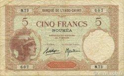 5 Francs NOUVELLE CALÉDONIE  1936 P.36b TB+