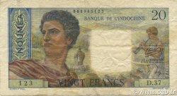 20 Francs NOUVELLE CALÉDONIE  1954 P.50b TTB