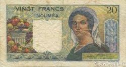 20 Francs NOUVELLE CALÉDONIE  1963 P.50c TTB