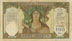 100 Francs NOUVELLE CALÉDONIE  1957 P.42d TB