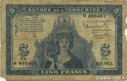 5 Francs NOUVELLE CALÉDONIE  1944 P.48 B