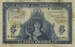 5 Francs NOUVELLE CALÉDONIE  1944 P.48 pr.TB