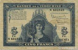 5 Francs NOUVELLE CALÉDONIE  1944 P.48 pr.TTB