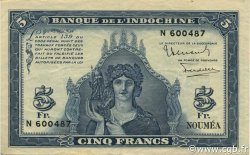 5 Francs NOUVELLE CALÉDONIE  1944 P.48 SUP