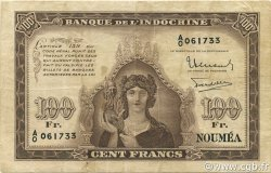 100 Francs NOUVELLE CALÉDONIE  1942 P.44 TB à TTB
