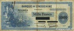 1000 Francs NOUVELLE CALÉDONIE  1944 P.47b TB+