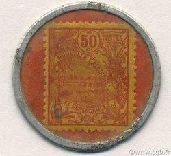 50 Centimes Timbre Capsule NOUVELLE CALÉDONIE  1922 P.29 SUP